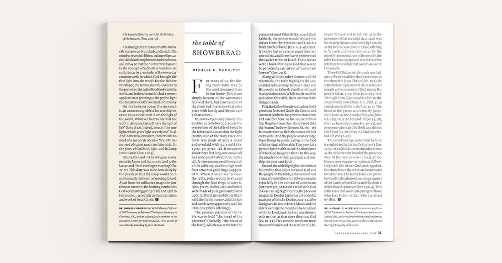 Marvelous The Table Of Showbread Tabletalk Download Free Architecture Designs Scobabritishbridgeorg