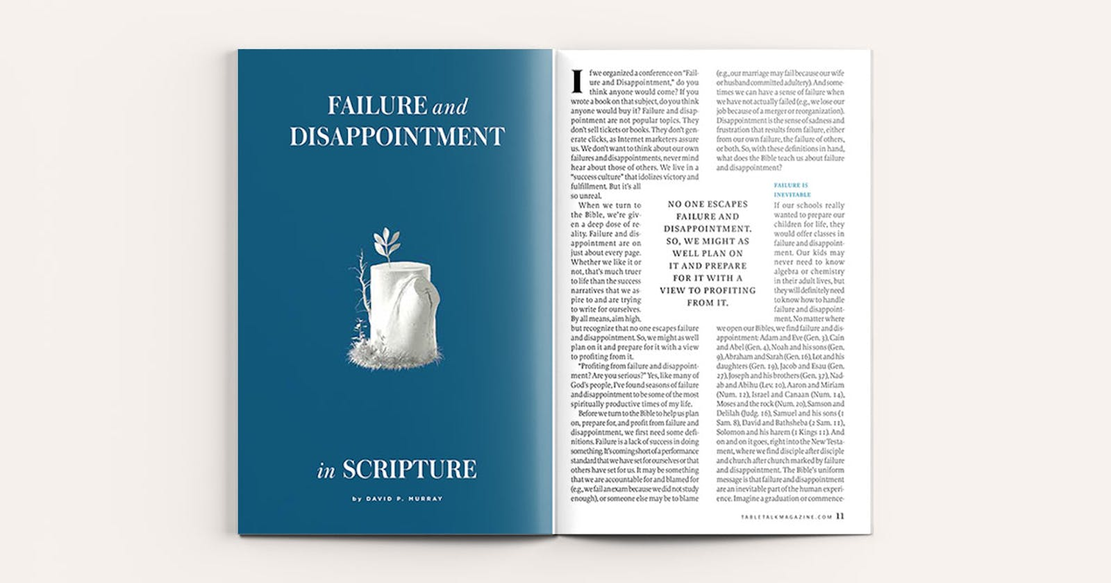 Failure and Disappointment in Scripture | Tabletalk